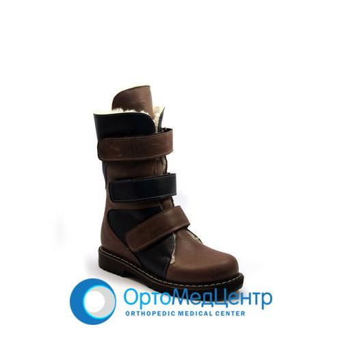 Ортопедичні чоботи на 3-х липучках Kodo 810, Україна