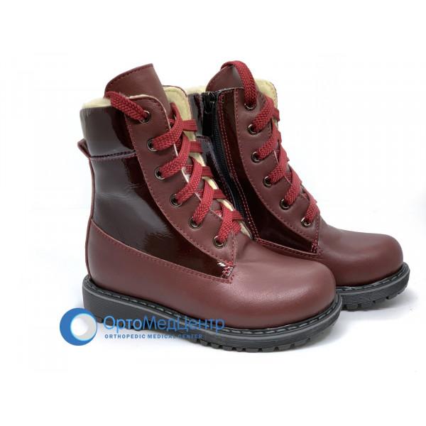 Ортопедичні черевики на шнурках та змійці Kodo 806, Україна