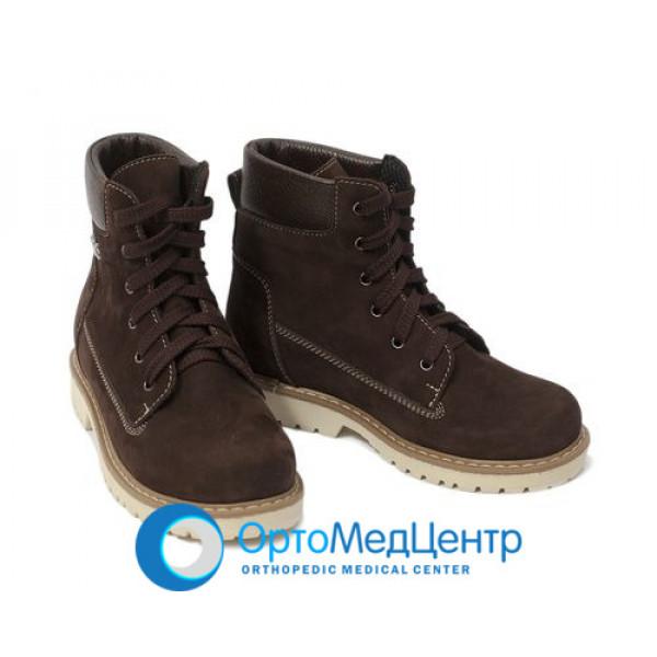 Зимові ортопедичні черевики на шнурках Kodo 764, Україна
