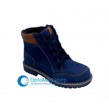 Зимові ортопедичні черевики на шнурках Kodo 758, Україна
