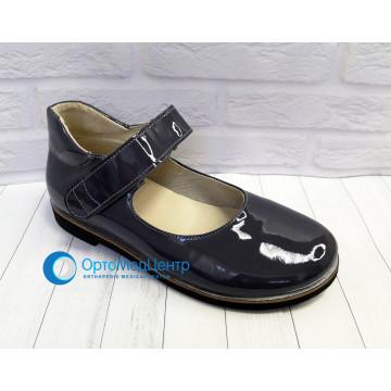 Дитячі ортопедичні туфлі на ліпучці для дівчинки Kodo 601, Україна