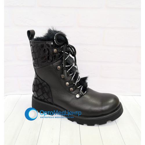 Лакові зимові чобітки на шнурках та молніїї Tutubi, Турція
