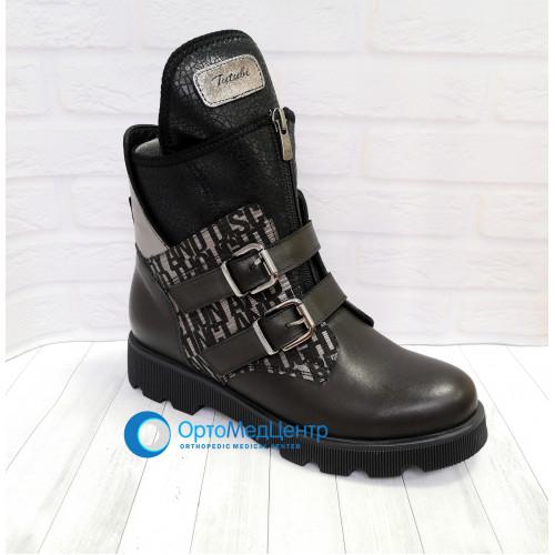 Демісезонні черевики на молнії та шнурках Tutubi