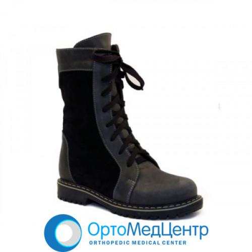 Ортопедичні черевики на шнурках та змійці Kodo 807, Україна